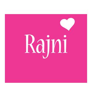 Rajni love-heart logo