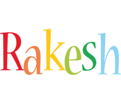 Rakesh birthday logo