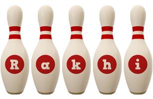 Rakhi bowling-pin logo