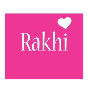 Rakhi love-heart logo