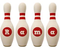 Rama bowling-pin logo