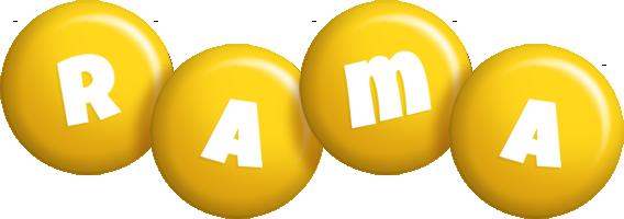 Rama candy-yellow logo