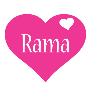 Rama love-heart logo