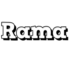 Rama snowing logo