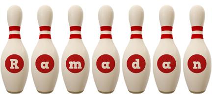 Ramadan bowling-pin logo