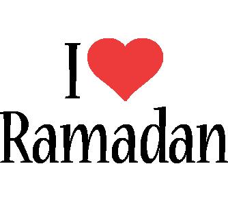 Ramadan i-love logo