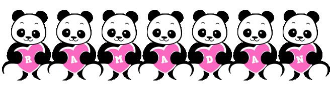 Ramadan love-panda logo