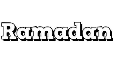 Ramadan snowing logo