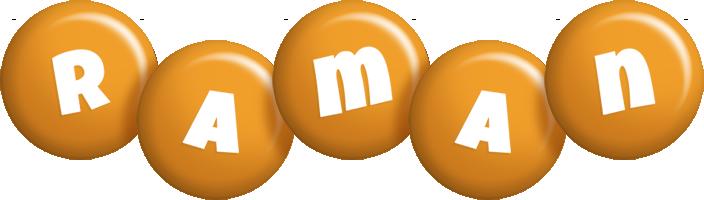Raman candy-orange logo