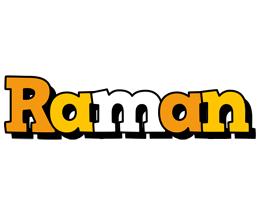 Raman cartoon logo