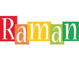 Raman colors logo