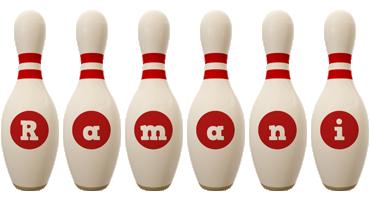 Ramani bowling-pin logo