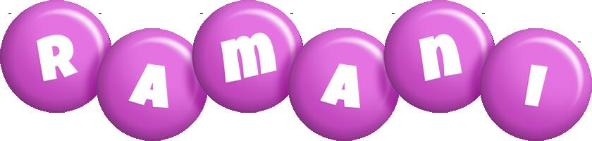 Ramani candy-purple logo