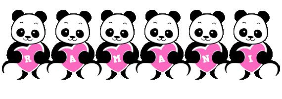 Ramani love-panda logo