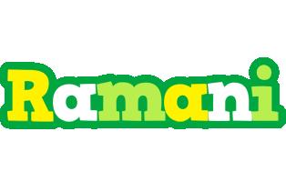 Ramani soccer logo