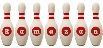 Ramazan bowling-pin logo