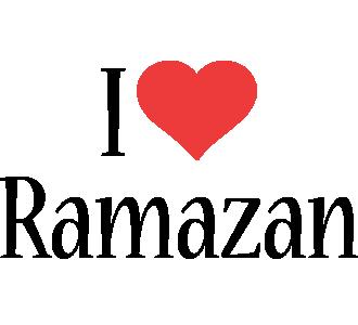 Ramazan i-love logo