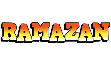 Ramazan sunset logo