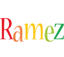 Ramez birthday logo