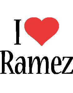 Ramez i-love logo