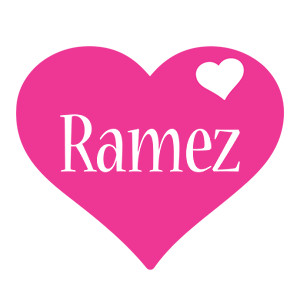 Ramez love-heart logo