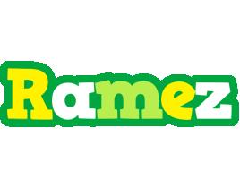 Ramez soccer logo