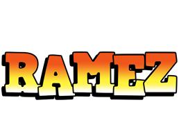 Ramez sunset logo