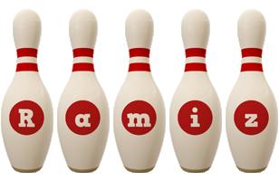 Ramiz bowling-pin logo