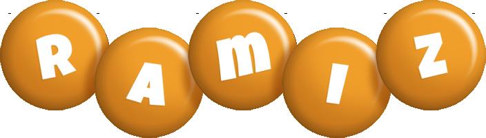 Ramiz candy-orange logo