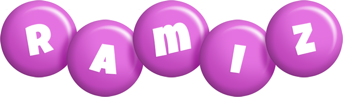 Ramiz candy-purple logo