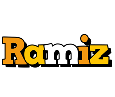 Ramiz cartoon logo