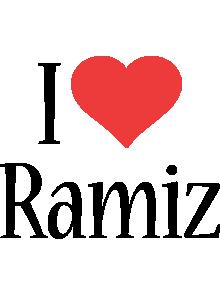 Ramiz i-love logo