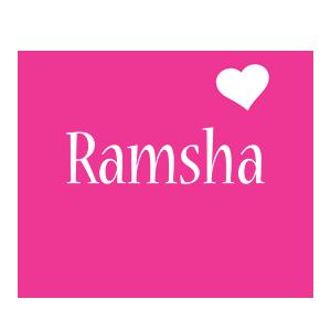 ramsha name love