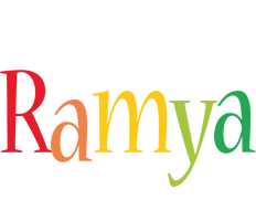 Ramya birthday logo