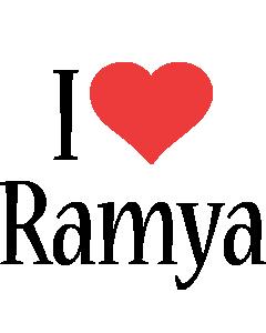 Ramya i-love logo