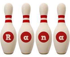 Rana bowling-pin logo