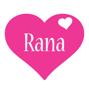 Rana love-heart logo