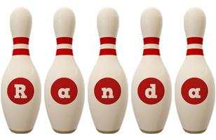 Randa bowling-pin logo