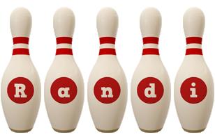 Randi bowling-pin logo