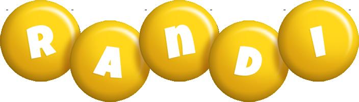 Randi candy-yellow logo