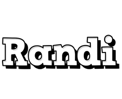 Randi snowing logo