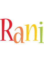 Rani birthday logo