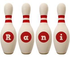 Rani bowling-pin logo