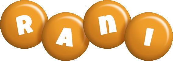 Rani candy-orange logo