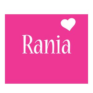 Rania love-heart logo