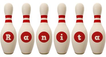 Ranita bowling-pin logo