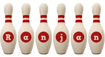 Ranjan bowling-pin logo