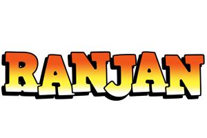 Ranjan sunset logo