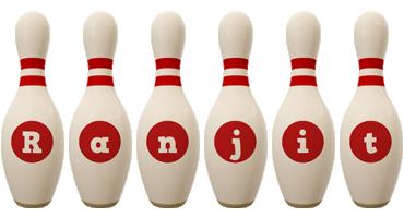Ranjit bowling-pin logo