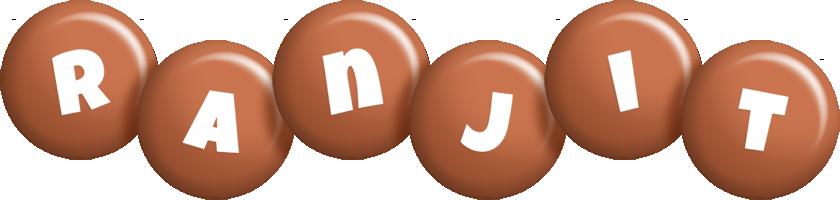 Ranjit candy-brown logo